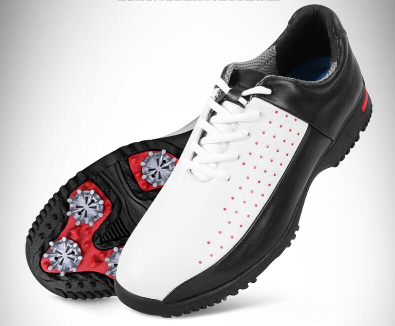 Высокое качество! PGM Водонепроницаемый-обувь без застежки Мужская дышащая обувь Гольф противоскольжения восьмиугольная ногтей обувь, Бесп...