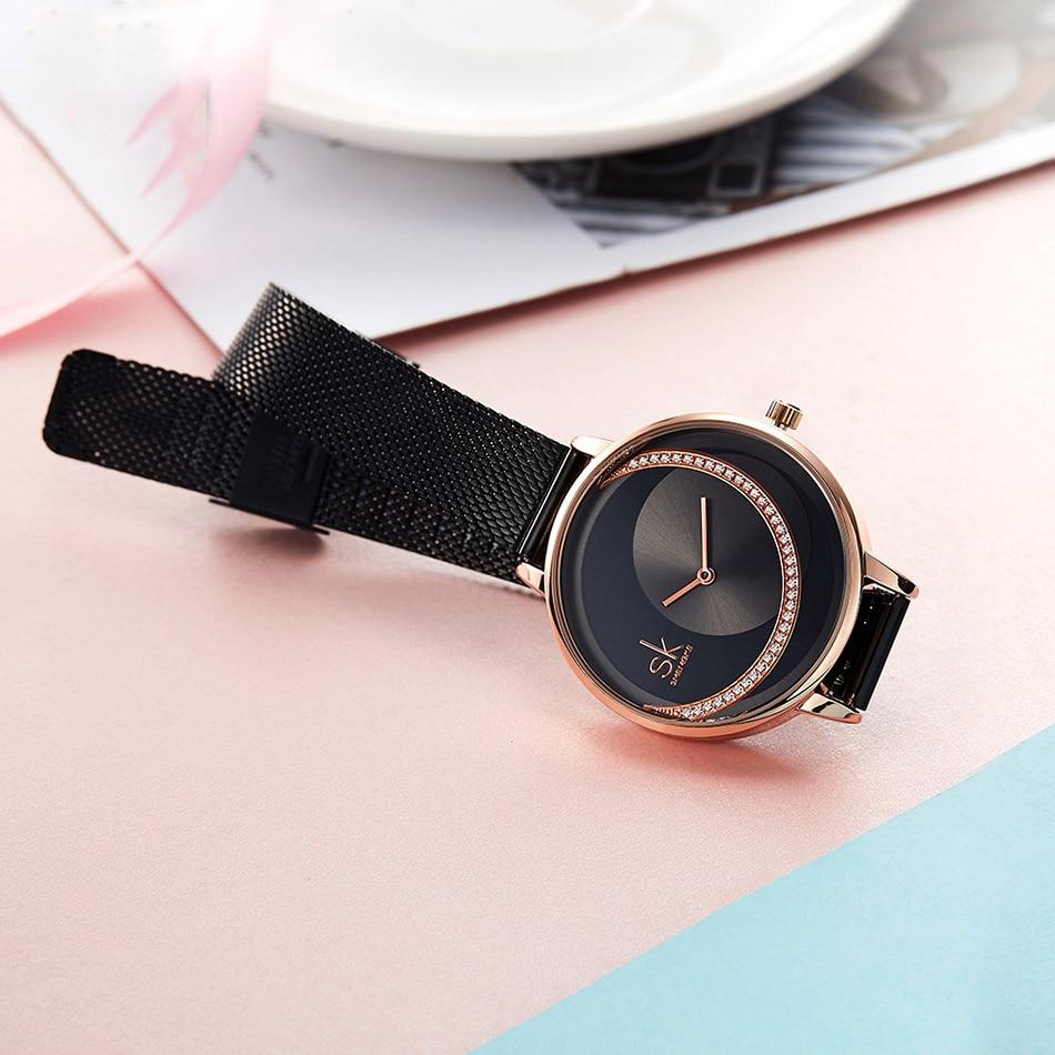 SK Fashion Crystal Women Quartz Watch Creative Ultra Thin Ladies Wrist Watch For Montre Femme Female Clock 2019 relogio feminino (3)