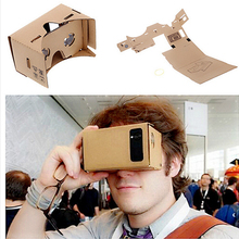 Google Cardboard 3D Virtual Reality Glasses VR Box DIY ToolKit Goggles for iPhone 6 6S Plus 4.7-6 inch Android Smartphone 10PCS