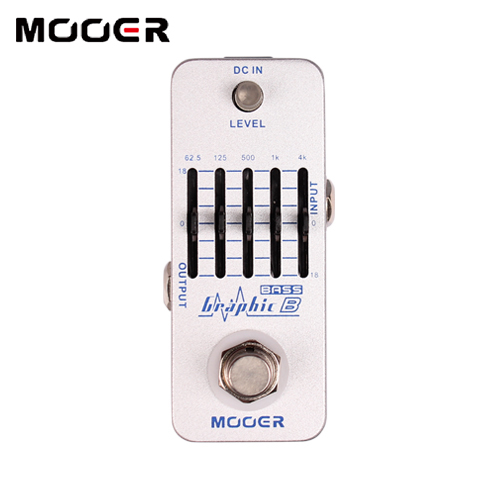MOOER Graphic B 5-Band Bass Equalizer Pedal Graphic EQ with master level control Guitar effect pedal joyo eq 307 folk guitarra 5 band eq acoutsic guitar equalizer high sensibility presence adjustable with phase effect and tuner