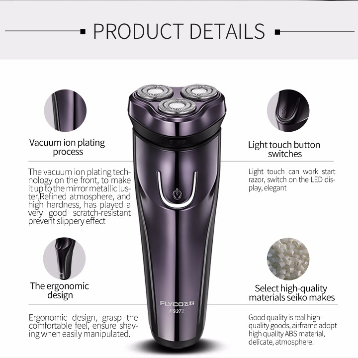 FLyco Professional Body Washable Electric Shaver for Men lasting 45 Minutes Rechargeable Electric razor 3D Floating HeadS FS372 17