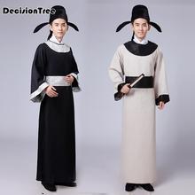 2019 new black white red national ancient chinese hanfu clothing men hanfu costume hanfu men national