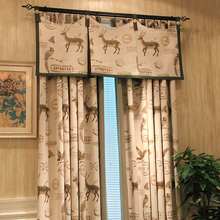 Custom Made Blue Natural Cotton Linen Curtains American Country Style  Jacquard Kanoko Curtains Living Room Eco Friendly Curtains