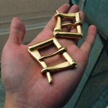 DIY Johnleather Craft Hardware Quick Release BOR Solid Brass Belt Buckle Firefighter Buckle # 909266-B32/38