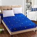 1 pc 100% poliéster sábana Funda de colchón de impresión de ropa de cama sábanas de cama con banda elástica doble reina tamaño 160 cm * 200 cm