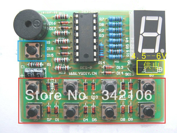 Free Shipping!!! 8-way Responder Kit Electronic diy Production Suite