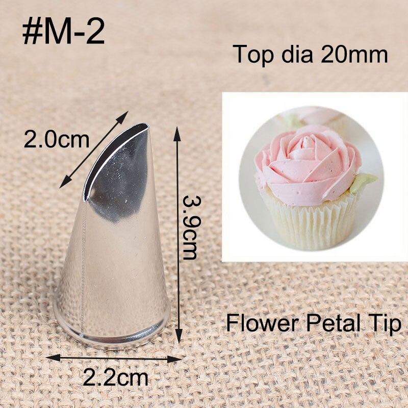 # M-2 цельнокроеное сопло для торта, металлический, кремовый наконечник, стальное Обледенение труб, украшения крема для торта, кондитерские и...