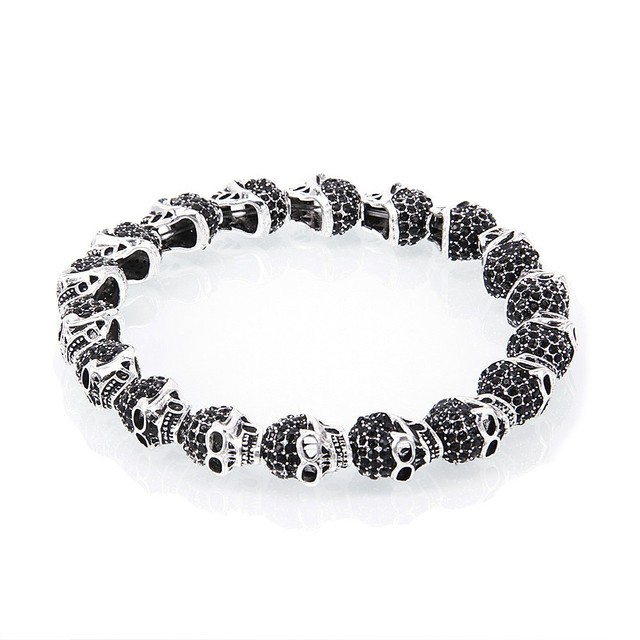 Thomas Style Black Skulls Karma Beads Bracelets Viking Rebel And Heart Men Vintage Friendship Bracelets TS Jewelry Gifts Bijoux