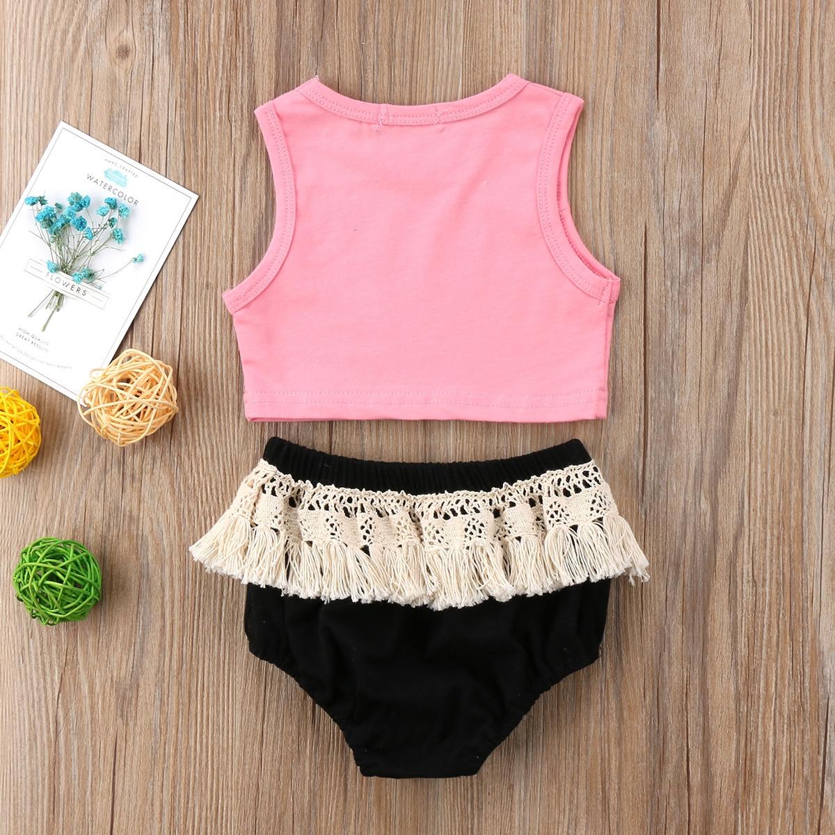 Girls' Baby Clothing Mother & Kids 2018 Newborn Kids Baby Girl T-shirt Vest Pineapple Tops+ruffle Shorts Pants Cotton Clothes 2pcs Cute Summer Set