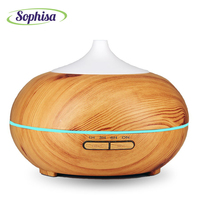 Sophisa 300ml Aroma Essential Oil Diffuser Wood Grain Ultrasonic Cool Mist Humidifier Woman Children Love Gift