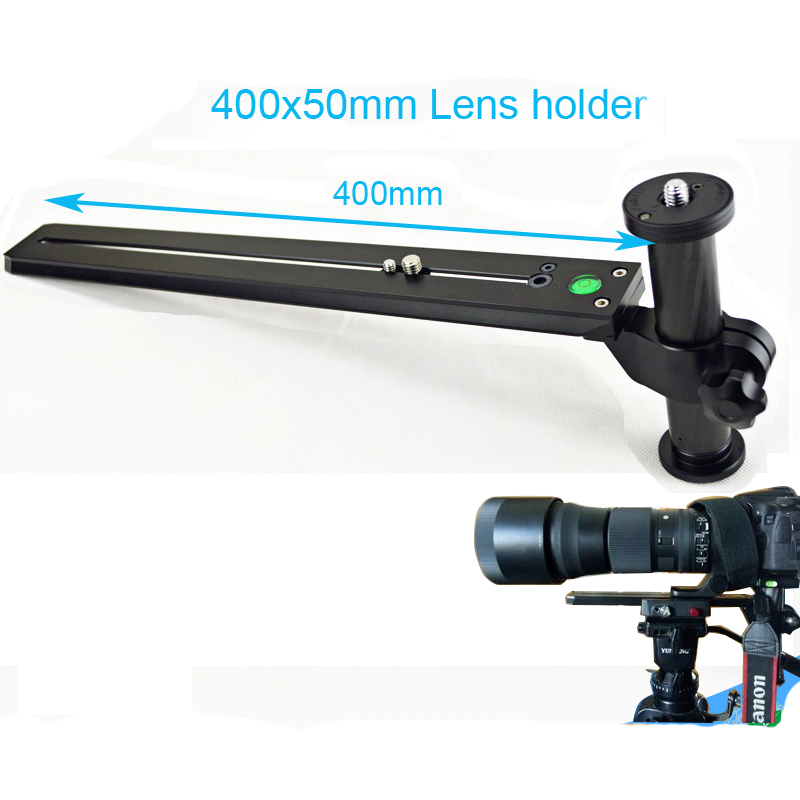 Telephoto Zoom Lens Support Bracket Holder Long-Focus Camera Support with Long Rail Quick Release Plate for Manfrottoand Benro стоимость
