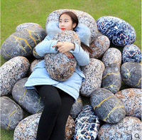 New Coming 1Pc 38 70cm Simulation Stone Pillow Cushion Creative Stone Plush Toys Sofa Kids Pillow