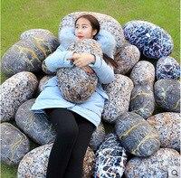 New Coming 1Pc 38 70cm Simulation Stone Pillow Cushion Creative Stone Plush Toys Sofa Kids Pillow