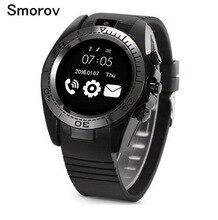 Sw007 Bluetooth Smart часы с шагомер Беспроводные устройства Поддержка sim-карта TF Для мужчин спортивные SmartWatch для Android IOS Телефон