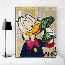 Monopolyingly Scrooge Dollars  HD Wall Art Canvas Posters Prints Painting Pictures For Bedroom Modern Home Decor Framework