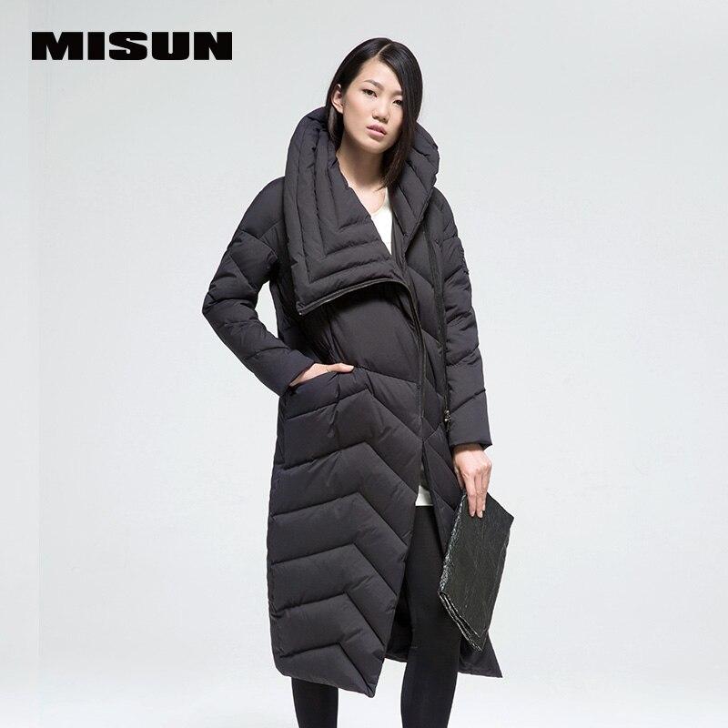 Misun2017 новый на осень-зиму свободные женские модные утепленные удлинить более-колено дизайн длинное пальто womenmsd-g771