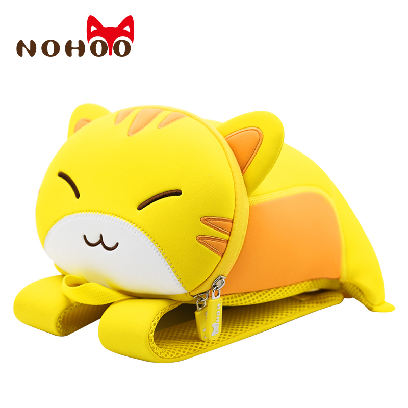 NOHOO Toddler Kids Pre School Bag Cute 3D Cat Animal Children School Harness Leash Backpack for Girls 2-7 Years Old Medium culturally responsive pre school education