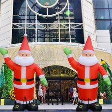 3M/4M/5M/6M Inflatable Portable Xmas Christmas Santa Claus Blow Up Indoor  And Outdoor Lawn Yard Home Decoration With Say HI