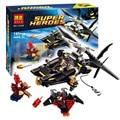 Бела Super Heroes Человек-Летучая Мышь Атаки Batcopter Glider Building Block Набор Nightwing Бэтмен цифры Игрушки 76011 Совместимость Лепин
