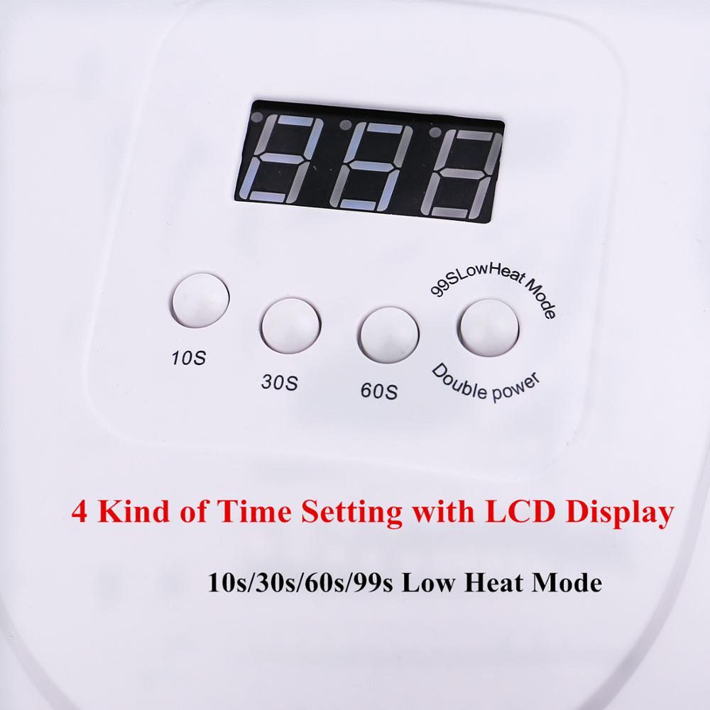 SUN X5 MAX 80W LED UV Lamp Nail Dryer 45 LED Professional For Drying Gel Polish 10/30/60/99s Timer Auto Sensor Nail Art Machine 3