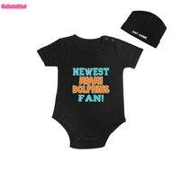 Culbutomind Yeni Miami Yunuslar Fan Çocuklar Gömlek veya Bebek Vücut takım Komik Bebek Çocuk boy Giyim Çocuk Duş ile boy CustomCap