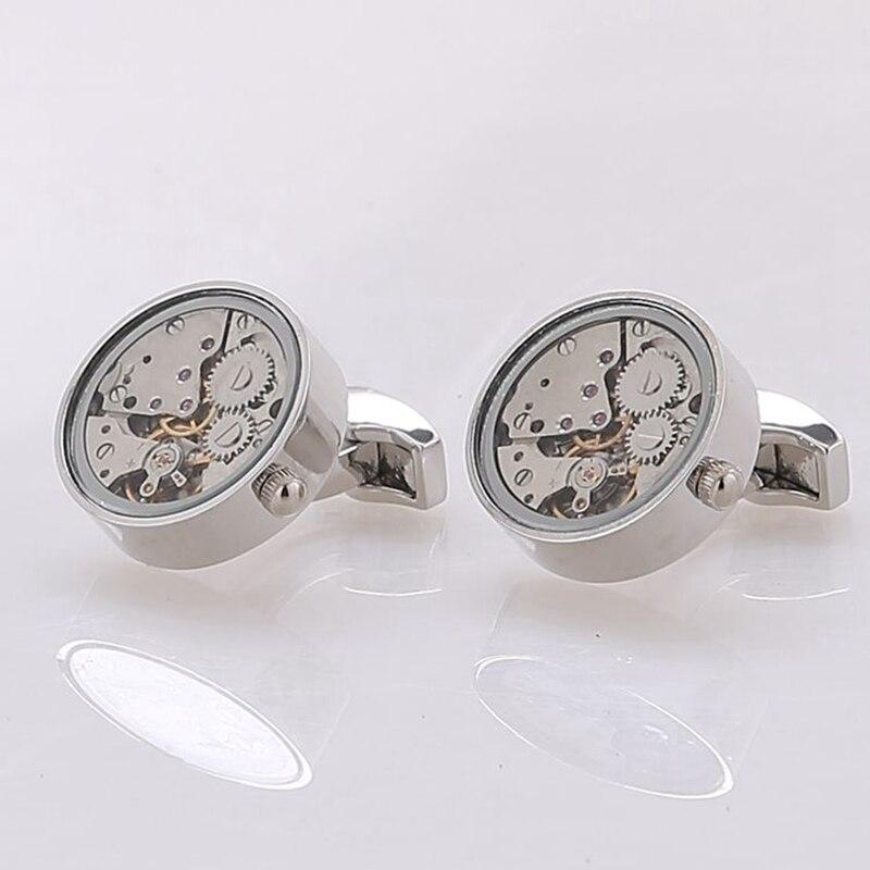 Round Watch Movement Cufflinks (5)