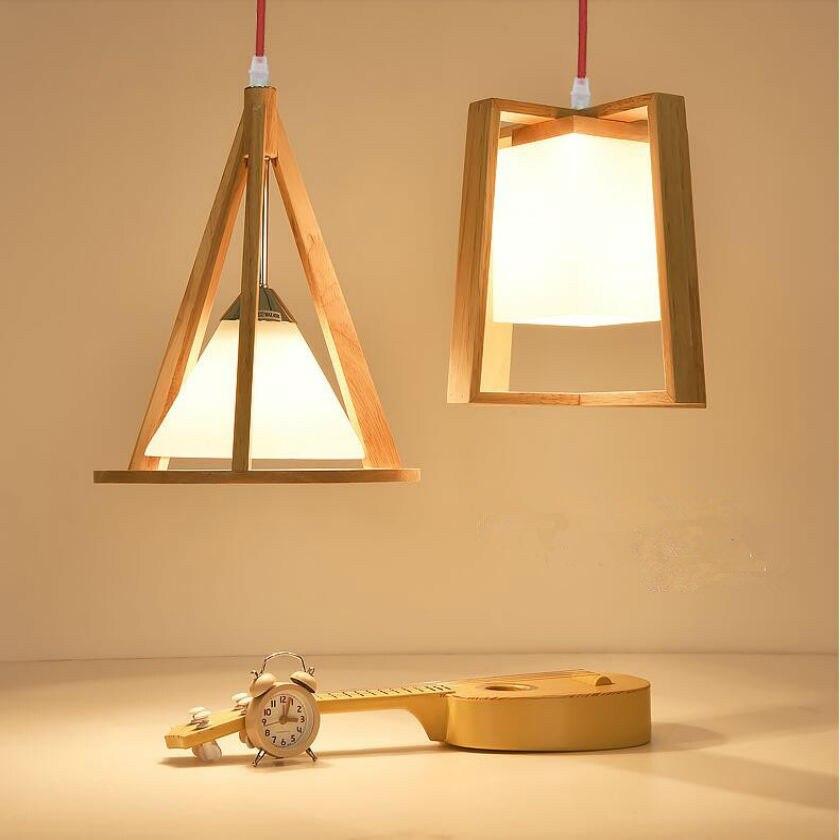 art deco nordic wood pendant light modern wood pendant lamp hanging lights for home hotel led
