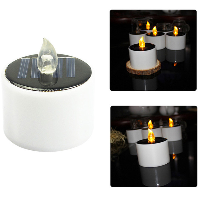 1pcs Solar Led Candle Light Ed Candles Flameless Electronic Tea Lights Lamp Wedding Party Decor
