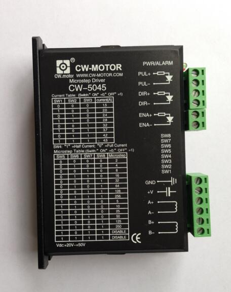 Good quality 2phase driver for CW5045 stepper motor stepping motor driver 50V/4.5A 368 stepper motor condition very good 6a