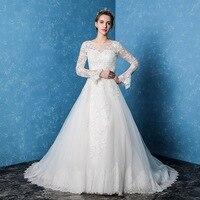 Amanda Novias 2017 New Wedding Dresses On Lace Beading Amazing High Gulity Robe De Marage Vestidos