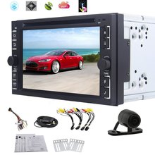 6.2″ Pure android 4.4 OS Universal 2 Din In Dash Car DVD Player Stereo GPS Navigation Radio Bluetooth/Wifi  + Rearview Camera