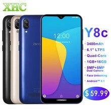 Smartphone DOOGEE Y8C Android 8.1 6.1 pouces écran goutte deau MTK6580 Quad Core 1 GB RAM 16 GB ROM double SIM 8MP + 5MP WCDMA