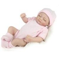 28cm Real Looking Newborn Bebes Silicone Reborn Dolls Mini Realistic Bebe Reborn Sleeping Babies Girl Toys Cute Birthday Gifts