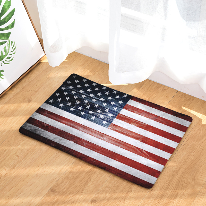 Home Hallway Door Mats Vintage American Flag Stars Pattern Rugs Light Soft  Kitchen Living Room Bedroom Foot Pads In Mat From Home U0026 Garden On  Aliexpress.com ...
