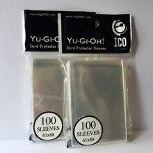 1/300/600 шт 61x88 мм карты рукава Ясный протектор Barrie для yu-gi-ой Yu-Gi-Oh маленький размер настольная игра контактной рукав