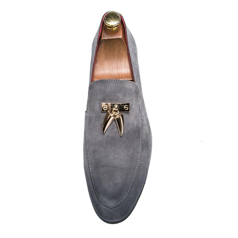 De Robe Glissent Loup Chaussures Cuir En Respirant Sur Taille D'été Mocassins Zapatos Noce La Nubuck Plus Fang Mens Glands Mode rxhQBdCots