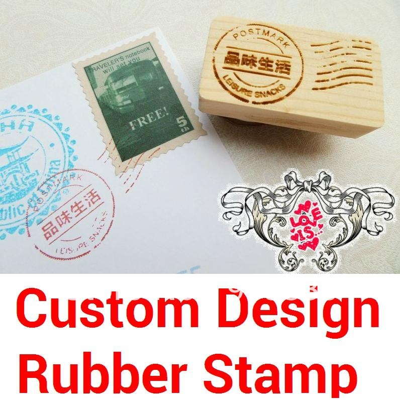 Custom Design Rubber Stamp Wood-mounted Scrapbooking Wedding Birthday Christmas Greeting Card Gift Box Photo Album DIY 30pcs in one postcard take a walk on the go dubai arab emirates christmas postcards greeting birthday message cards 10 2x14 2cm