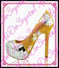Aidocrystal designer schuhe luxus pailletten gold crytal damen schuhe mit hohen absätzen abendgesellschaft kleid schuhe für frauen