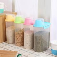 2 5L Transparent Plastic Storage Box Dry Dried Food Storage Box Clear Cereal Container Box