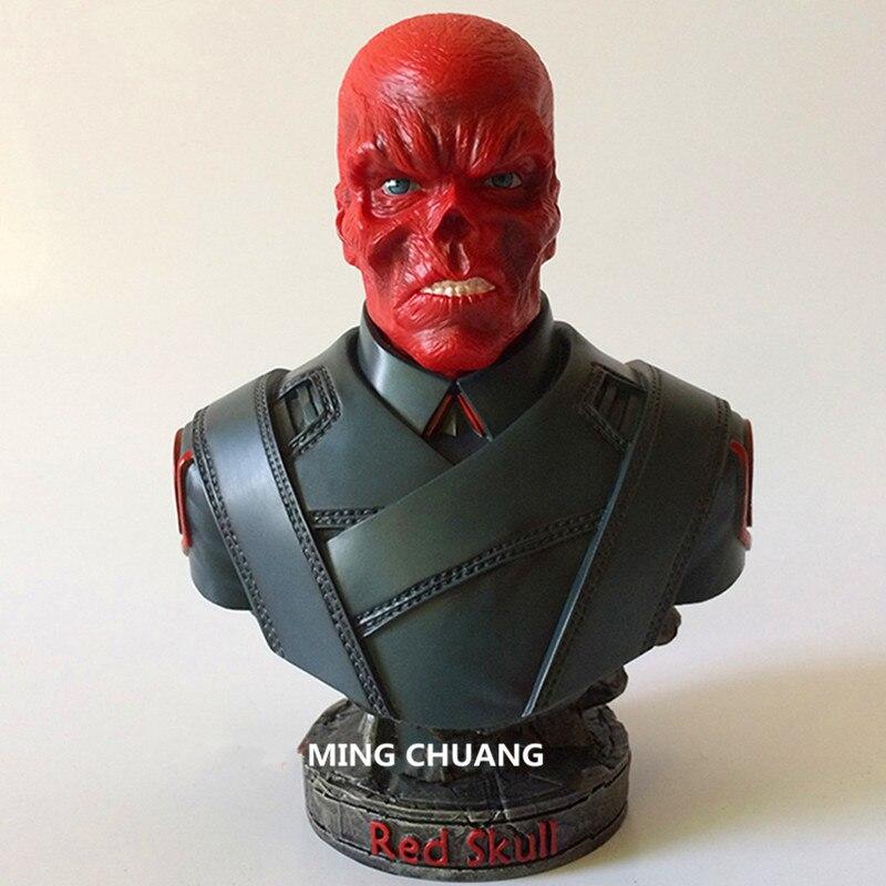 Supervillain Statue crâne rouge buste capitaine amérique ennemi demi-longueur Photo ou Portrait GK figurine Action modèle jouet 18 CM J576