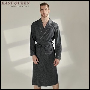 Double-face bienvenue en gros beau style chinois Homme Peignoir Robe//Robe