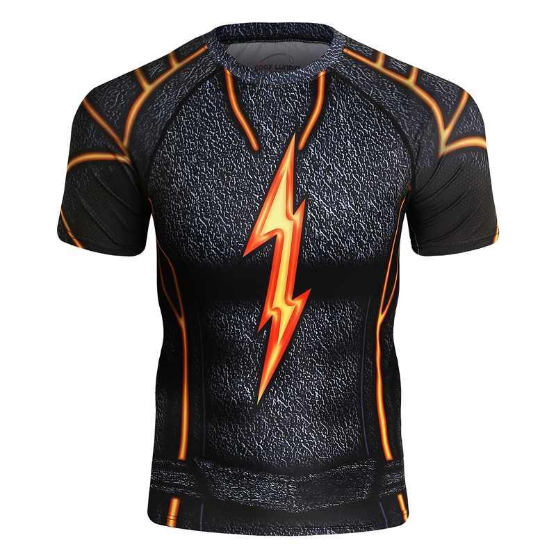 Marca bjj mma rashguard camisa de compressão dos homens camada base verão mangas curtas fitness exercício t camisa masculina impressão 3d topos t