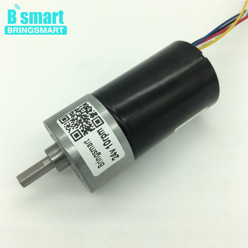 Wholesale JGB37-3650 8-1040 rpm 12v Mini Motor 12-30v High Torque DC Reduction Brushless Motor 24V Gear Motor wholesale 12 30v 8 1040rpm jgb37 3650 gear motor dc 12v brushless engine d shaft for common use bringsmart