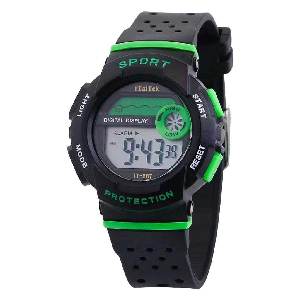 Itaitek Children's Watches Multi Function Luminous Waterproof Electronic Sports Watch Fitness Watch For Children Relogio Digital