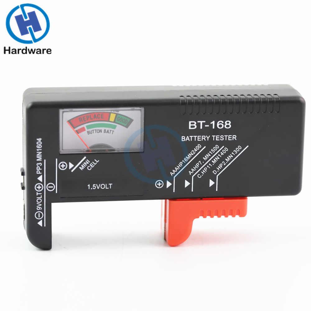 BT168 Xách Tay Phổ Kỹ Thuật Số Pin Tester Volt Checker Cho AA AAA 9 V Nút Nhiều Kích Thước Pin Tester Checker