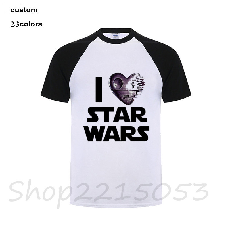 2018 New Arrival Darth Vader Mens T Shirt Star Wars The Force Awakens VII Starwars Fashion Design Male Top Tee Boy game t-shirt image