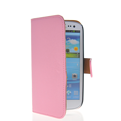High quality Cowskin flip leather wallet leather case cover for Samsung Galaxy S3 I9300 cell phone case Free shipping