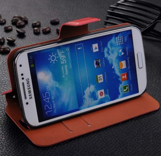 100% New Professional Production Fashion Thin Leather case Decoration Protect Case For Samsung S4 i9500