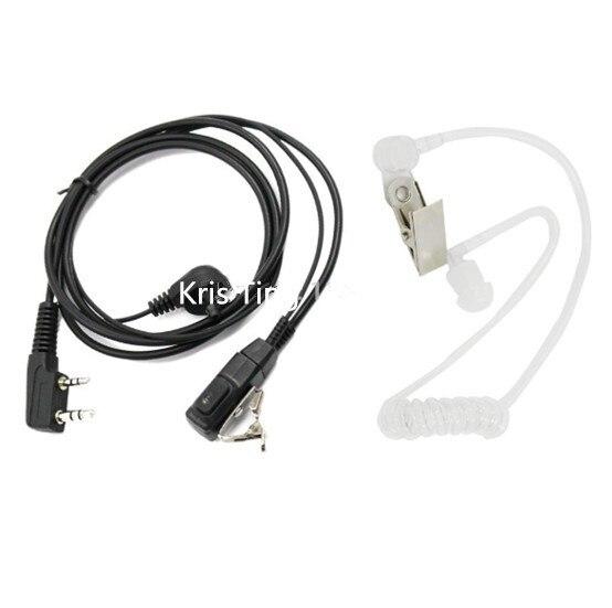 Цена за 50 * 2 контактный Тайное Воздуха Акустическая Динамик Гарнитуры для Kenwood PUXING Baofeng УФ 5R УФ 5RA 888 S двухстороннее радио