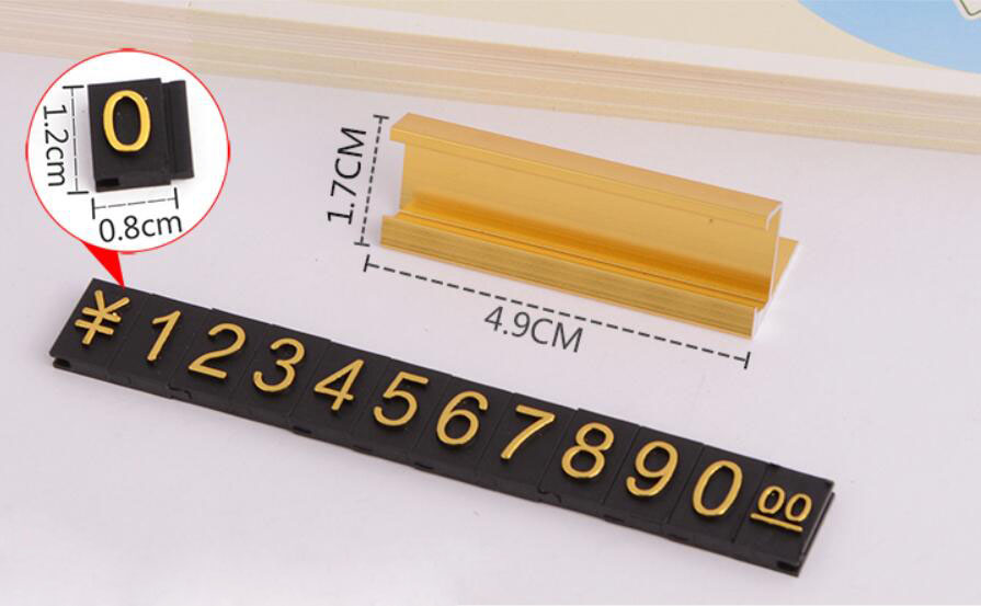 Counter Top Adjustable Price Talker Tags Kit $ Euro car jewelry clothes Number digit display cube sign label assembly